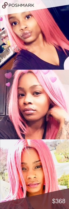 Bubblegum pink full lace wig place your order today! FULL LACE/LACE FRONT WIGS available ALL COLORS AVAILABLE from the deepest black to the brightest of yellows! Create your own custom colored wig with your style of choice. Contact: 571-294-3241 for orders, shipping is available BEAUTYisCONTAGIOUS Other