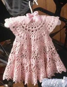 Pink Perfection Baby Girl Crochet Dress Free Pattern