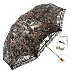 Amazon.com : MiiHome Ladies Umbrella Lace Parasol Folding Umbrella Sun Shade Anti-uv (Yellow) : Patio, Lawn & Garden