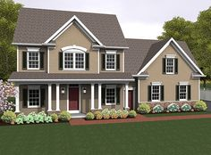 Colonial House Plan with 2217 Square Feet and 4 Bedrooms from Dream Home Source | House Plan Code DHSW077057