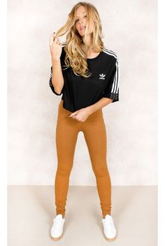 Camiseta Adidas Boxy 3 Stripes Preto Fashion Closet - fashioncloset