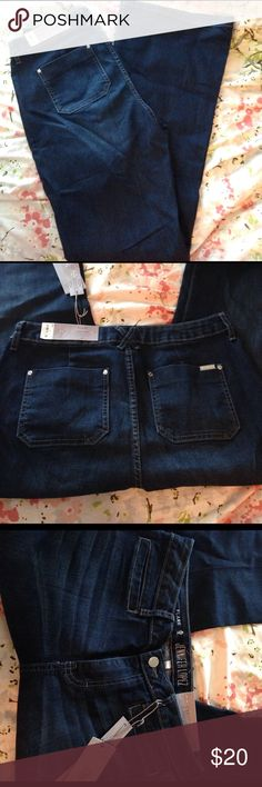 Jennifer Lopez high rise flare jeans Brand new with tag. Dark wash with some lighter lines on the front. Front and back pockets. Has stretch. Jennifer Lopez Jeans Flare & Wide Leg