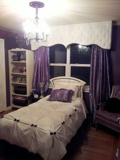 Bedroom Décor • Purple and White Color Theme- Olivia wants her new room to be purple