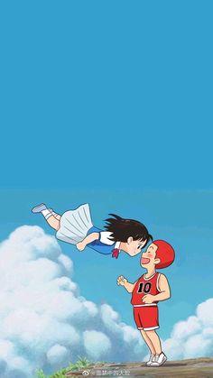 HarukoxSakuragiYou can find Slam dunk and more on our website. Sky Anime, Anime Ships, Cute Anime Guys, Anime Love, Karate Kid Costume, Slam Dunk Manga, Burton Snowboards, Animes Wallpapers, Comic