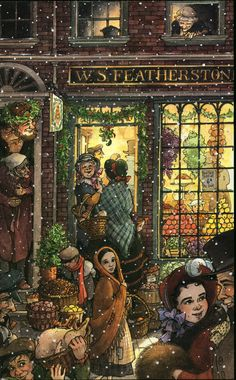 by Cory Godbey There's hardly a more beloved story for this time of year than that of Dickens' A Christmas Carol. Christmas Ghost, A Christmas Story, Xmas, Dickens Christmas Carol, Fairytale Art, Ghost Stories, Print Pictures, Beautiful Artwork, Vintage Postcards
