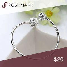 Gorgeous 925 Sterling silver bangle bracelet Sterling silver bangle bracelet. Comes with gift box Jewelry Bracelets