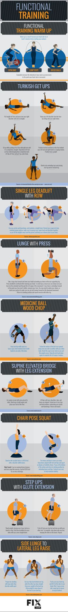 Be a stronger, healthier, and happier you by incorporating functional training into your workout schedule. These simple exercises will increase your muscle strength, making everyday tasks easier!