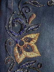 Zardozi - Her Crochet Pearl Embroidery, Hand Embroidery Dress, Tambour Embroidery, Bead Embroidery Patterns, Bead Embroidery Jewelry, Hand Embroidery Designs, Silk Ribbon Embroidery, Crochet Bedspread Pattern, Tambour Beading
