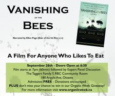 Watch a Foodie Film for Check out this list of our top ten foodie films. GTA and Ottawa, make sure to check out the special Organic Week film screening events! See Videos, Eating Organic, Save The Bees, Ottawa, Top Ten, Documentaries, How Are You Feeling, Events, Learning