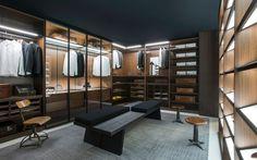 Walk-in wardrobe STORAGE Storage Collection by Porro | design Piero Lissoni, Centro Ricerche Porro