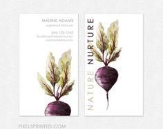 tarjetas de visita del nutricionista gruesas por PixelsPrinted