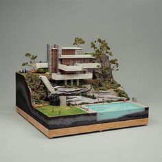 """what is this?! A house for ANTS?!"" seriously though..freaking amazing model!! Homage to Frank Lloyd Wright and Neutra."