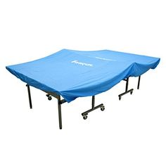 Harvil Heavy-Duty Indoor Table Tennis Table Cover with Elastic Hems - Protect your tennis table from dust and scratches with the Harvil Heavy-Duty Indoor Table Tennis Table Cover. This specially designed table tennis cover is constructed with a durable PVC material which protects your table from damages so it stays beautiful whenever you play. To provide secure cov...