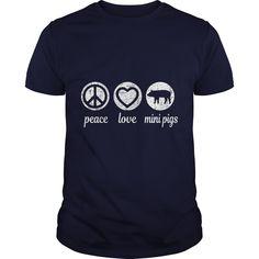 Peace Love Mini Pigs T-Shirt