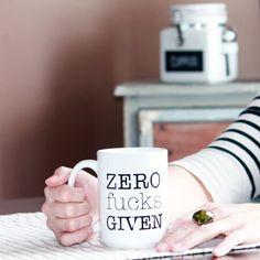 Zero Fcks Given  11 oz Coffee Mug  15 oz Coffee by FrankRegards