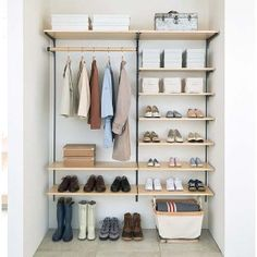 20 Smart Craft Organization Ideas for Making the Most out of Your Space - The Trending House Shoe Cupboard, Cupboard Storage, Shoe Storage, Craft Organization, Closet Organization, Open Wardrobe, Kiefer, Spare Room, Interior Exterior