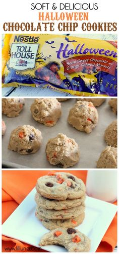 Super Easy and Super Delicious Halloween Chocolate Chip Cookies