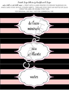 Bridal Shower PRINTABLES Paris Themed  DIY by yourlifevents, $2.00