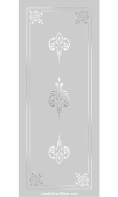 Any of our Victorian / Traditional etched glass designs can be incorporated into any glass design and in most glass sizes. We specialise in bespoke decorative glass so the designs are here for your inspiration. Window Glass Design, Glass Partition Designs, Frosted Glass Design, Sand Glass, Glass Art, Glass Etching Designs, Acid Etched Glass, Pooja Room Door Design, Stained Glass Door