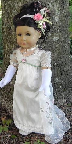 Delicate Jane Austen Ball Gown Ensemble by TheWhitePoodle via Etsy $65.00