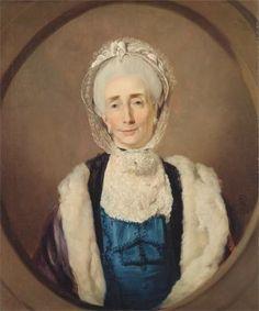 Mrs. Lushington (Mary Lushington) - 1774 by John Hamilton Mortimer (1740-1779, British) Yale Center for British Art. Fur-lined pelisse or mantelet.