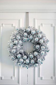Disco Ball Christmas Wreath