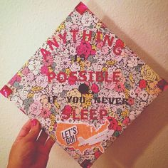 Inspired by the Great Leslie Knope. Anything is possible... If you never sleep. ✨#collegegrad #USF #gradcap