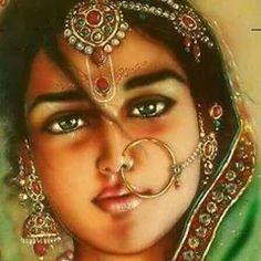 Just feel the love and care in the eyes of Shri Radhaji for her devotees Jai Shree Radha Lord Krishna Images, Radha Krishna Pictures, Krishna Radha, Durga, Radha Rani, Indian Women Painting, Indian Art Paintings, Ganesha, Rajasthani Painting