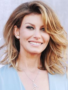 "Cute hair for ""older"" gals ;)  Faith Hill Celebrates 47th Birthday  #InStyle"