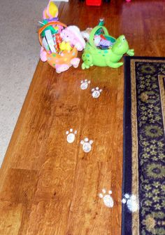 How to make Easter Bunny Tracks!  My mother used to do this for me when I was little, and I LOVED it!