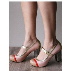 camel, red, soft pink, and gold shoe! Gold Shoes, Flats, Shoe Bag, Spring, Red, Stuff To Buy, Design, Women, Fashion