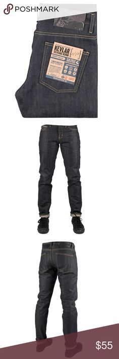 Naked and Famous Skinny Guy Denim - 36w Brand new without tags Naked and Famous Skinny Guy Kevlar denim. This denim jean is blended with Kevlar. 36w 35l Naked & Famous Denim Jeans Skinny