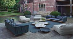 Divano da giardino a 3 posti Collezione Sabi by Paola Lenti design Francesco Rota