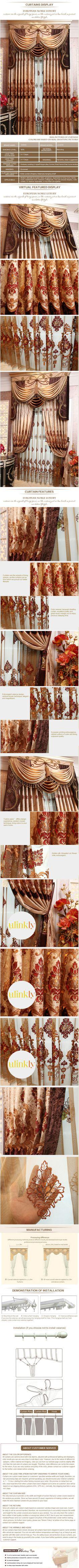 luxury window curtain - GIBBS $166  (55% off)