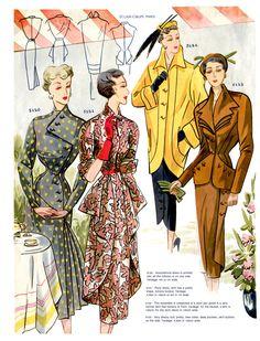 1950 printemps Français mode Pattern Book par CestlaModePatterns