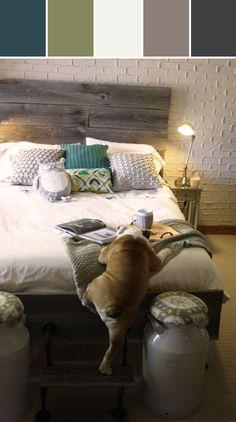 Bulldog in the Bedroom Designed By Lisa Perrone   Stylyze Creative Director via Stylyze  SO CUTE!!! I want a bulldog!