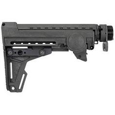 ERGO AR-15 F93 PRO Stock 8 Position Collapsible Stock with Fixed Cheek Piece and Buffer Tube Polymer Black 4925-BK