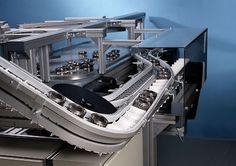Hệ thống tự động cấp phôi máy gia công lấy sản phẩm ra vị trí khay chứa