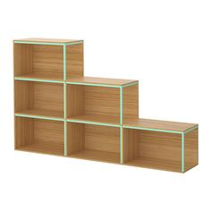 4 of these instead of 2x4 shelf at head of bed... IKEA PS 2014 Storage combination with top - bamboo/light green - IKEA
