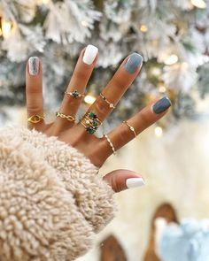 Nagellack Design, Nagellack Trends, Acrylic Nail Designs, Nail Art Designs, Acrylic Nails, Coffin Nails, Va Nails, Shellac Nails, Winter Nail Art
