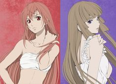 "The two central female characters of Zetsuen no Tempest, Hakaze Kusaribe and Aika Fuwa.  Check out ""Blast of Tempest"" on Crunchyroll!"