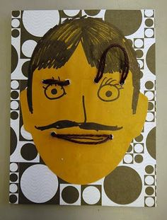 Teach children about emotions by creating a face that can change expressions.