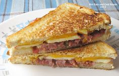 Bacon and Apple Grilled Cheese Sandwich -  this is good, I had it for dinner tonight.  Next sandwich with  chipotle mayonnaise, avocado, pear, Havarti, pepper jack cheese, and any other variation I can think of!