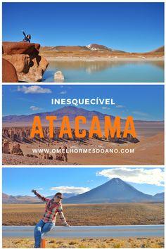 Escalar vulcões, conhecer geiseres, flutuar em lagoas salgadas, conhecer salares, ver flamingos... todas as paisagens inesquecíveis do Atacama, estão em dicas no O Melhor Mês do Ano! Nas fotos: Piedras Rojas, Salar de Tara e Vulcão Licancabur.