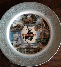 Wyoming Collectors Plate | eBay
