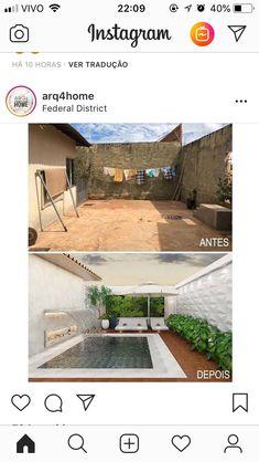 High walls and small pool = all the Secret garden feels 😍 Small Backyard Pools, Backyard Pool Designs, Small Pools, Swimming Pools Backyard, Backyard Landscaping, Home Interior Design, Exterior Design, Diy Terrasse, High Walls