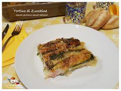 Tortino di Zucchine, con prosciutto cotto e stracchino vegano , senza glutine e senza lattosio