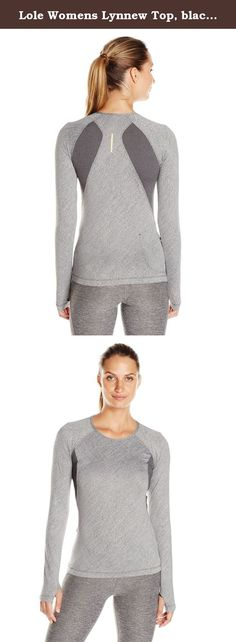 Lole Womens Lynnew Top, black, Large. This sleek top is ideal for fall running or as a base layer under a windbreaker or vest. It's made to move in our moisture-wicking, heathered stretch fabric with a SPF 50+ factor.