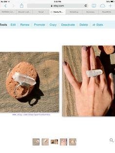 #Christmas #gift #jewelry #ring #necklace #engagement #minimalist #downsize #shop #clear #quartz #healing #stones #holiday