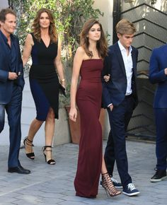 Cindy Crawford and Her Family Step Out in Style to Support Son Presley